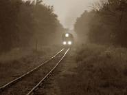 train-on-foggy-day